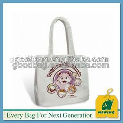factory white mini display stand canvas cosmetic tote bag