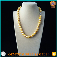 AAAA+ 10mm rich color round south sea shell pearl elegant simple artificial <strong>necklace</strong>
