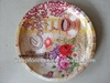 flower coffe tea round tray