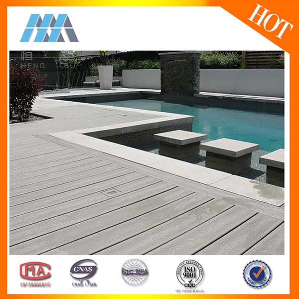 Wood plastic composite outdoor decking flooring covering options