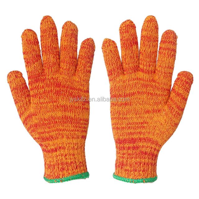 Mixed colors cotton knitted hand gloves Hot sell safety gloves factory top high quality cheap industrial working gloves