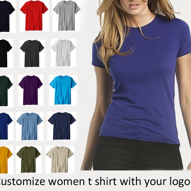 2018 Summer printing women t-shirt design ,custom white cotton t-shirt in bulk