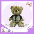 Plush toys with T- shirt bear ,sitting stuff brown bear