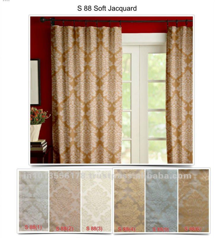 Silk effect curtains