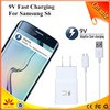 adaptive fast charging 9v, 1.67a or 5v 2a usb wall phone charger for samsung s6