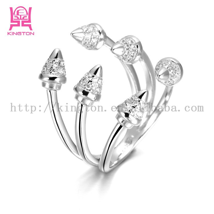 2015 cool design dragon claw shaped silver finger ring for mens
