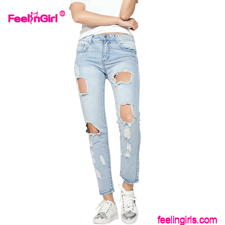 New Pattern Jeans Feelingirl Raw Hem Bangkok Jeans