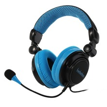 2.1 channel vibration PC USB LED logo light gaming stereo headphone with detachable microphone
