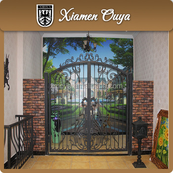 Security Wrought Iron Gate Design For Home