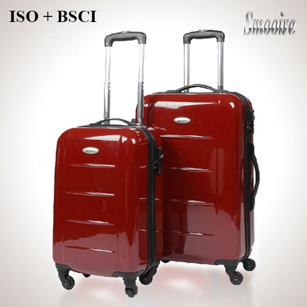Ladies fashion pure PC luggage bag travel trolley