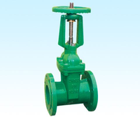 Series DIN3202 F4 NRS Resilient Seat 6 inch Flange brass angle valve