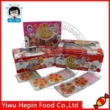 2pcs Pizza Shape Soft Candy Halal Sweet Gummy Candy Fruity Flavor Candy