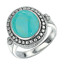 Turquoise Ring and Sterling Silve Ring
