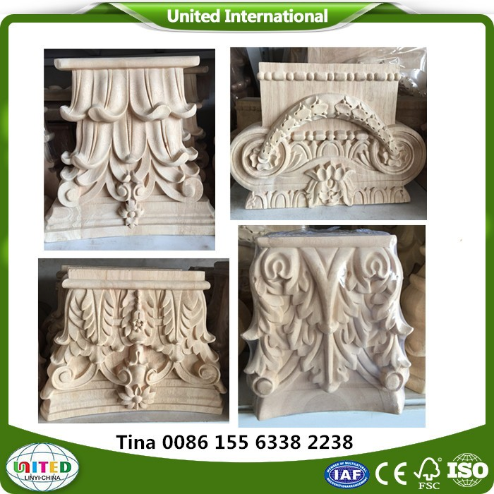 decorative hand carved wood corbels