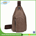 New Products Fashionable Coffee Canvas Waist Bag