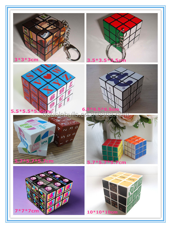 China manufacture promotional custom plastic puzzle cube for wholesales