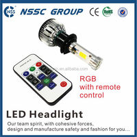 Car headlight lamps automotive led convision kit 24w rgb flash lighting 6000k