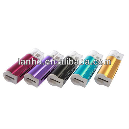 Unique Lighter Shaped USB 2.0 M2/SD/MMC/SDHC/DV/MS Pro Duo/MS Duo/TF Card Reade