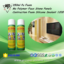 350ml/750ml Pu Foam Ms Polymer Faux Stone Panels Contruction Foam Silicone Sealant 1200