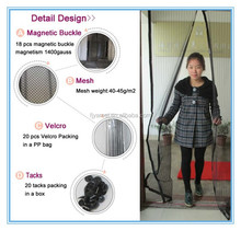 Fashion curtain with magnetic strip