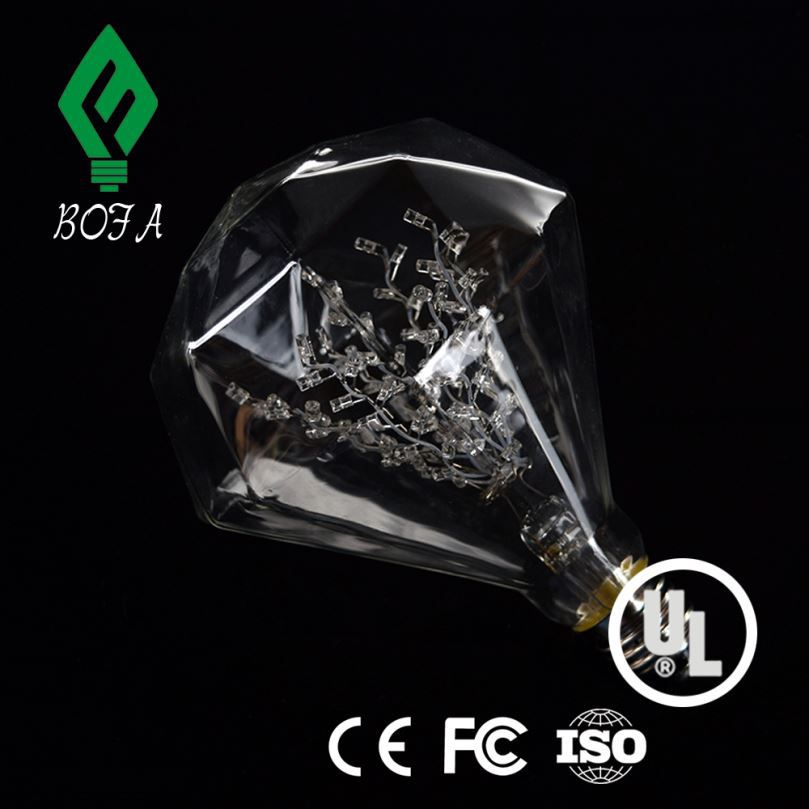 Bedroom 3D Magical Night Light Diamond ring Warm LED USB Table Lamp