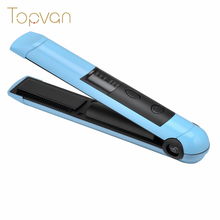 Battery powered USB mini wireless hair flat iron