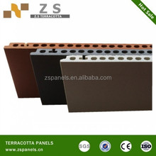 Fired terracotta clay tiles for wall , curtain terracotta wall clay tiles, terracotta fasade panel for exterior
