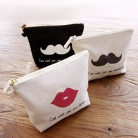 Make Up Bag for Cosmetic Travel and Toiletry Luxury Beauty Pouch for Cosmetics Jewelry Bag Classic Style Canvas Orga
