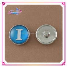 N015 Button For Bracelet Round Shaped Alloy Button Charms For Bracelet
