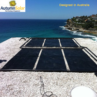 Australia design hard plastic solar collector for swimming pool heating