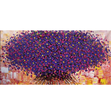 purple color 100% handpainted wall art decoration for living room