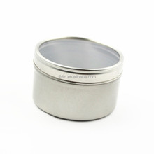 Gold supplier sell custom round metal packing candle tin