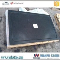 Square black granite stone shower tray
