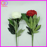 cheap 6 colors single stem available wholesale silk peony flowers