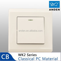 PC Material White Color Home One Gang Wall Electric Switches