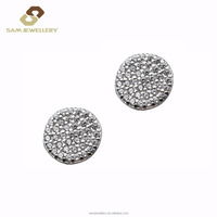 Elegant And Beautiful Round Cubic Zirconia Stud Earrings, 925 Sterling Silver Earrings Silver Jewelry Woman Engagement Earrings
