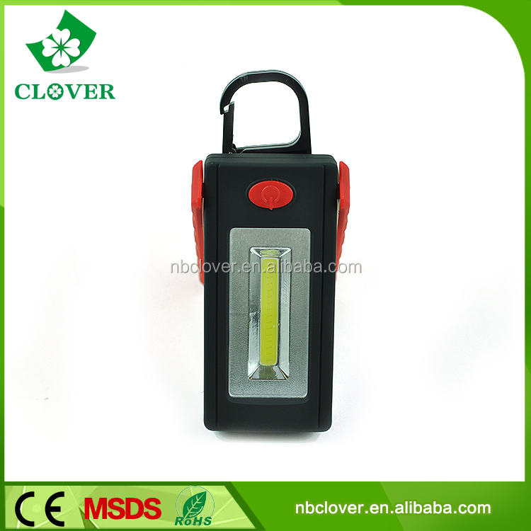 230-260LM 3W cob 3*AAA battery with hook and magnetic led work light