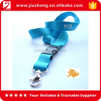 Custom design blue latest true nylon lanyard with printed logo