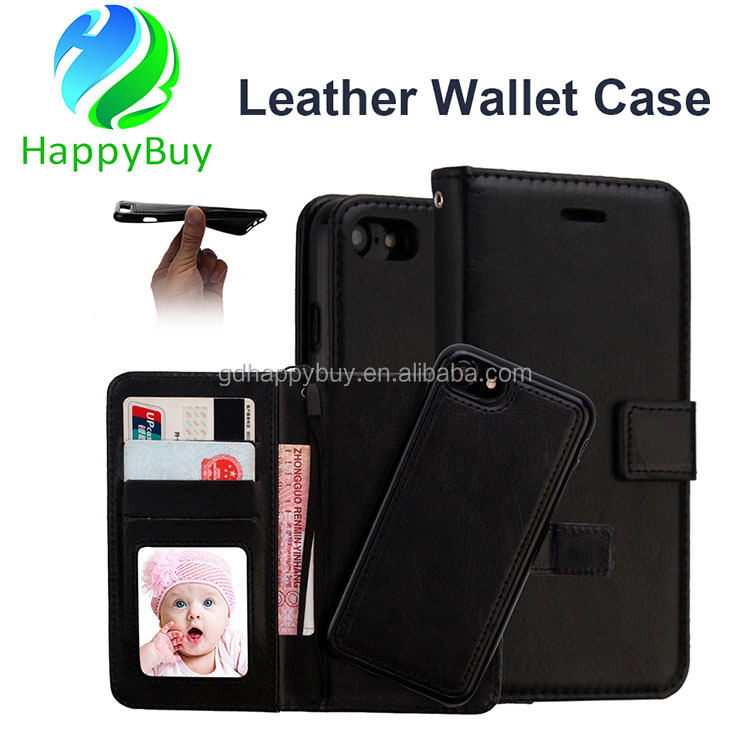 high quality card holder flip pu leather case cover for iPhone 7 leather case wallet