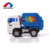 Friction powered mini plastic street sweeper city cleaner toy garbage truck for kids