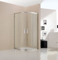 none tray or steam sector shower screen with frame and transparent tempered glass 6 mm thickness