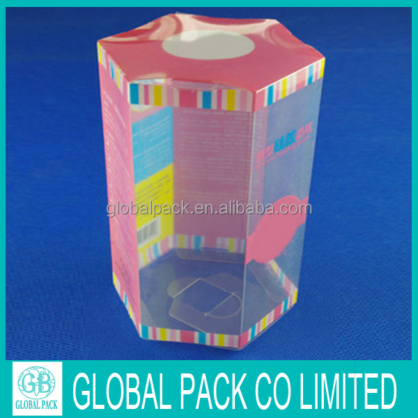 High Quality Customized Transparent Folding Plastic Packaging Box