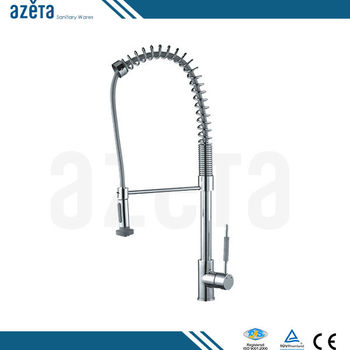 Fashion Spring Pull Out Extendable Swivel Head Brass Kitchen Faucet NO.MK9814