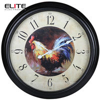 Factory audit rooster clock dial country design big vintage wall clocks