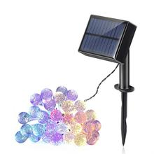 20 Pcs Colored Wedding Party Light Halloween Garden Solar String Christmas Tree LED Light