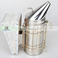 Widely used in bekeeping with stainless steel and leather material bee smoker for sale