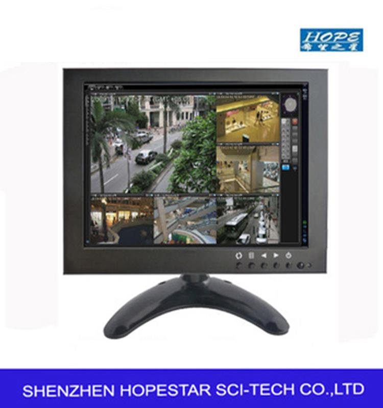 Wall mounted lcd ad monitor 7 8 9.7 inch hd display 1024*768 metal case lcd monitor