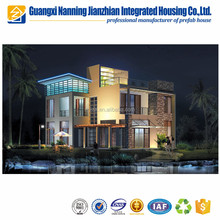EPS sandwich panel modular cottage prefab house design with foundation
