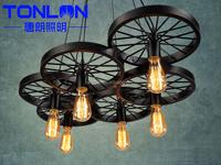 Vintage Pendant Lamps Loft retro Edison bulbs Hanging lights Creative lighting fixture