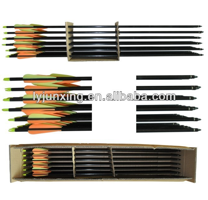 "30"" fiberglass arrow with changeable arrow point for compound bow archery hunting arrow China wholesale"